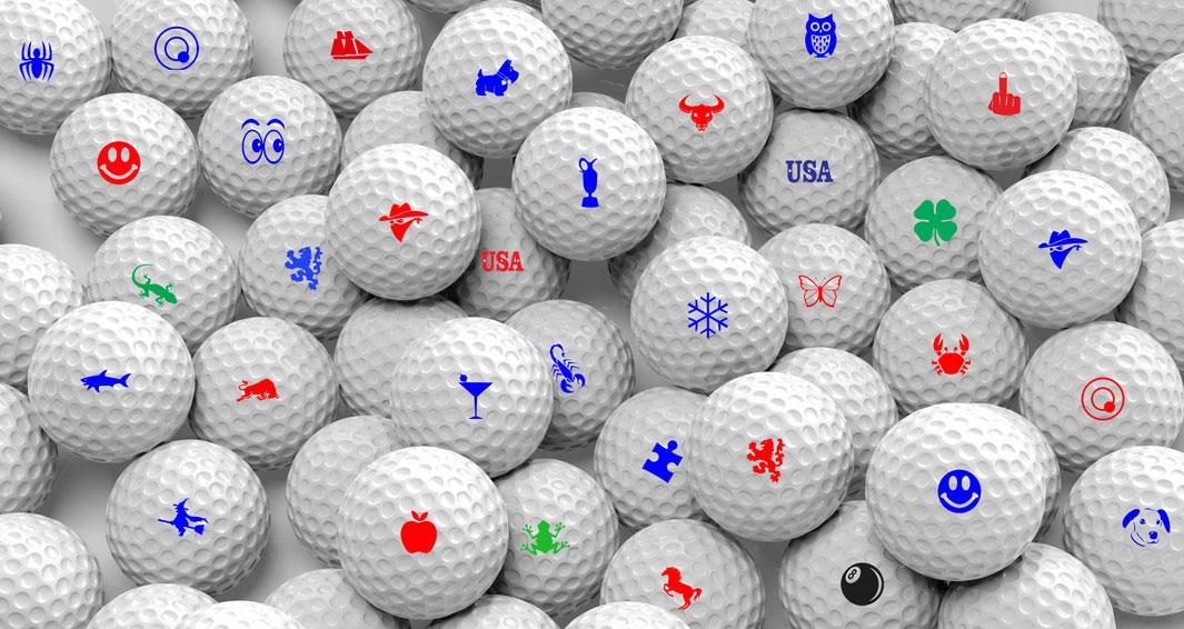 Stampyourballs golfbalstempels.